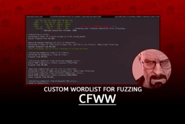 CWFF Create your Custom Wordlist For Fuzzing
