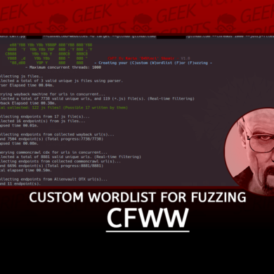 CWFF Create your Custom Wordlist For Fuzzing