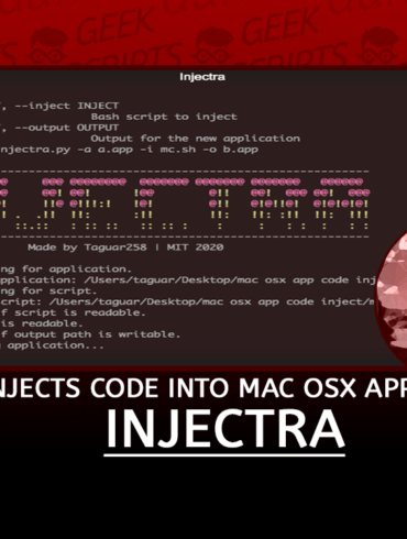 Injectra Injects Code into Mac OSX Applications