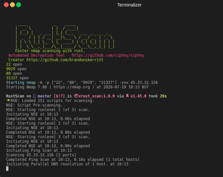 Nmap with RustScan
