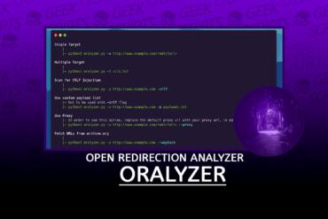 Oralyzer Open Redirection Analyzer