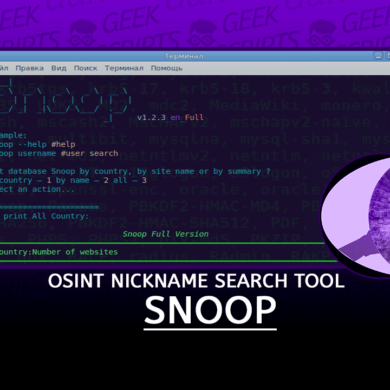 Snoop Project OSINT Nickname Search Tools