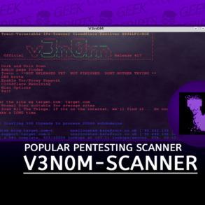 V3n0M-Scanner Pentesting Scanner for SQLi XSS LFI RFI