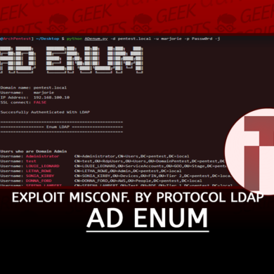 AD Enum Exploit Misconfiguration through the Protocol LDAP