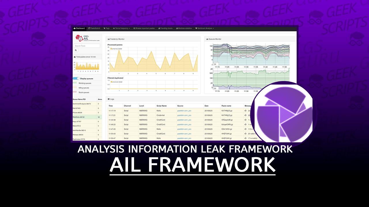 AIL Framework Analysis Information Leak Framework
