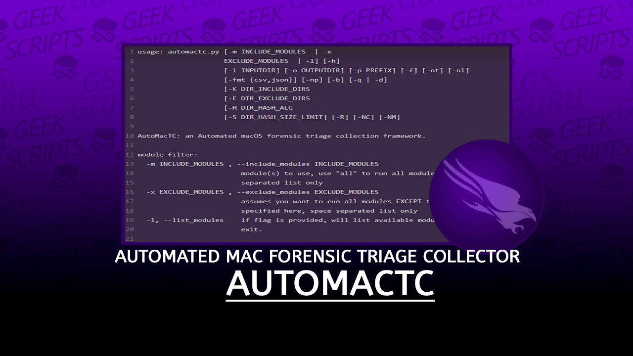 AutoMacTC Automated Mac Forensic Triage Collector