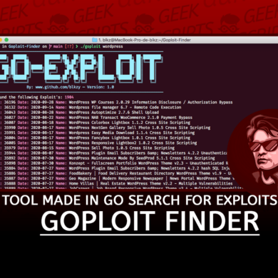 Goploit Finder Tool made in Go search for Exploits