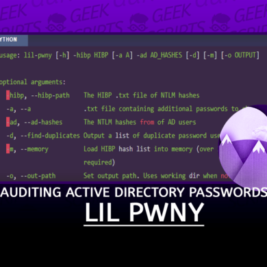 Lil Pwny Auditing Active Directory Passwords