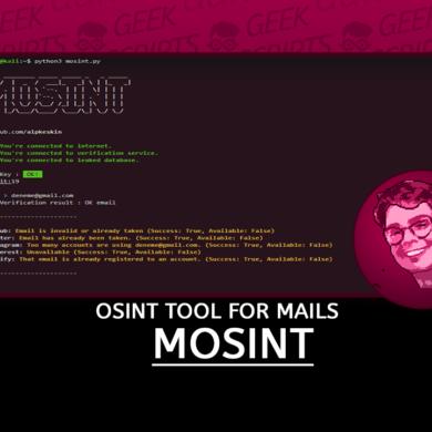 MOSINT OSINT Tool for Mails