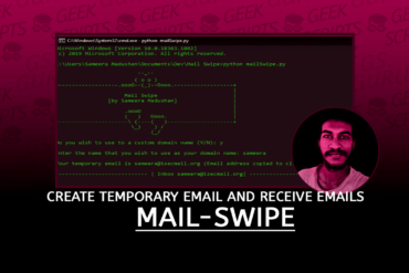 Mail-Swipe Create Temporary Email and Receive Emails