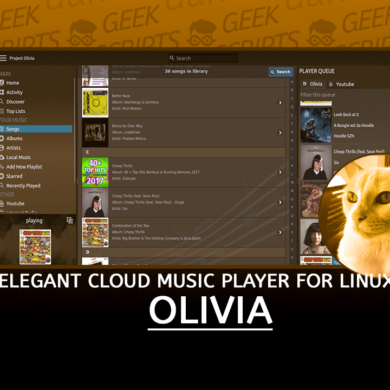 Olivia Elegant Cloud Music Player for Linux Desktop