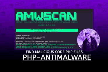 PHP-Antimalware-Scanner Find Malicious Code