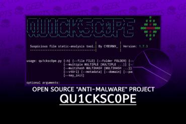 Qu1cksc0pe Open Source Anti-Malware Project