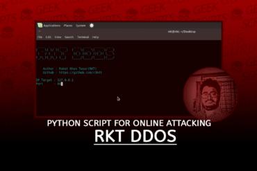 RKT DDoS Python Script for Online Attacking