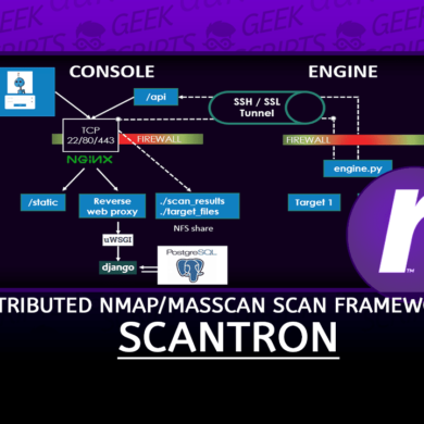 Scantron A Distributed nmap masscan Scanning Framework