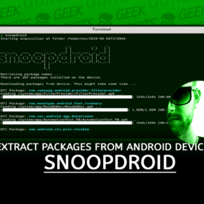 Snoopdroid Extract Packages from Android Device