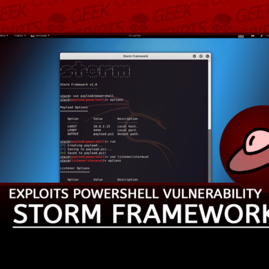 Storm Framework Exploits Windows PowerShell Vulnerability