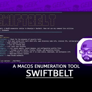 SwiftBelt A macOS Enumeration Tool