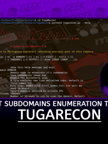 TugaRecon Fast Subdomains Enumeration Tool for Penetration Testers