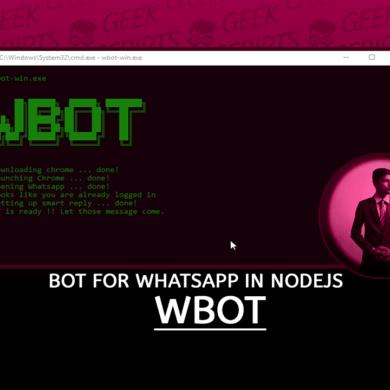 WBOT Simple Web based BOT for WhatsApp NodeJS