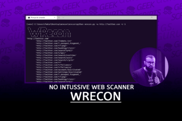 WRecon Open Source no Intussive Web Scanner