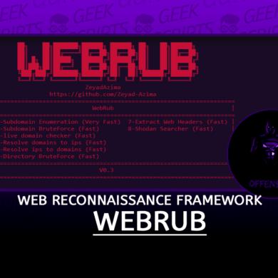 WebRub Web Reconnaissance Framework