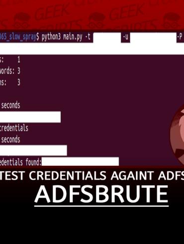 adfsbrute Test Credentials Against ADFS
