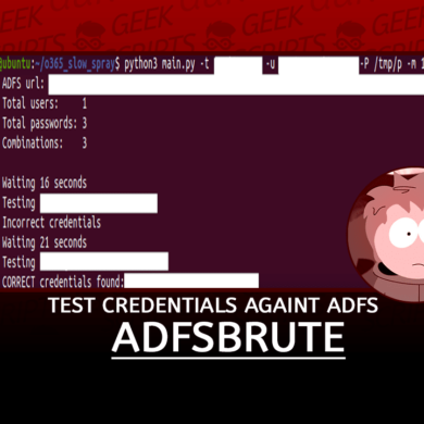 adfsbrute Test Credentials Against ADFS