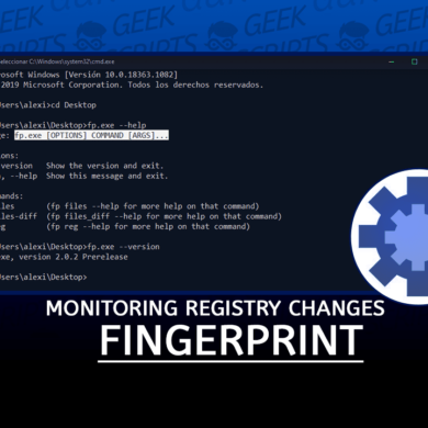 fingerprint Monitoring Registry and File Changes in Windows