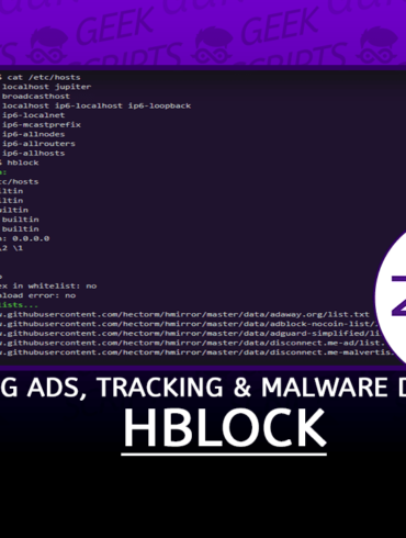 hblock Improve your Security and Privacy by Blocking Ads