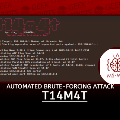 t14m4t Automated Brute-Forcing Attack Tool
