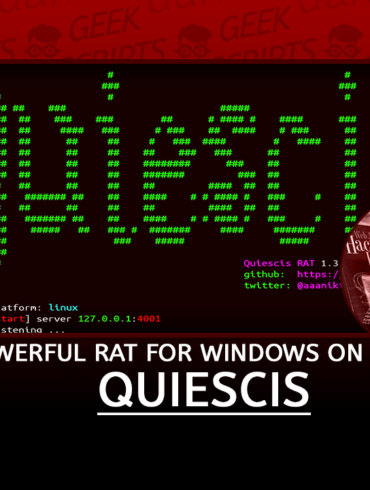 Quiescis Powerful Remote Access Trojan for Windows