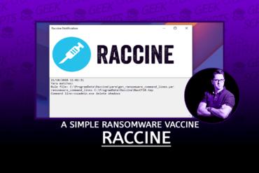Raccine A Simple Ransomware Vaccine