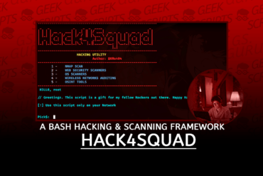 Hack4Squad Bash Hacking Scanning Framework