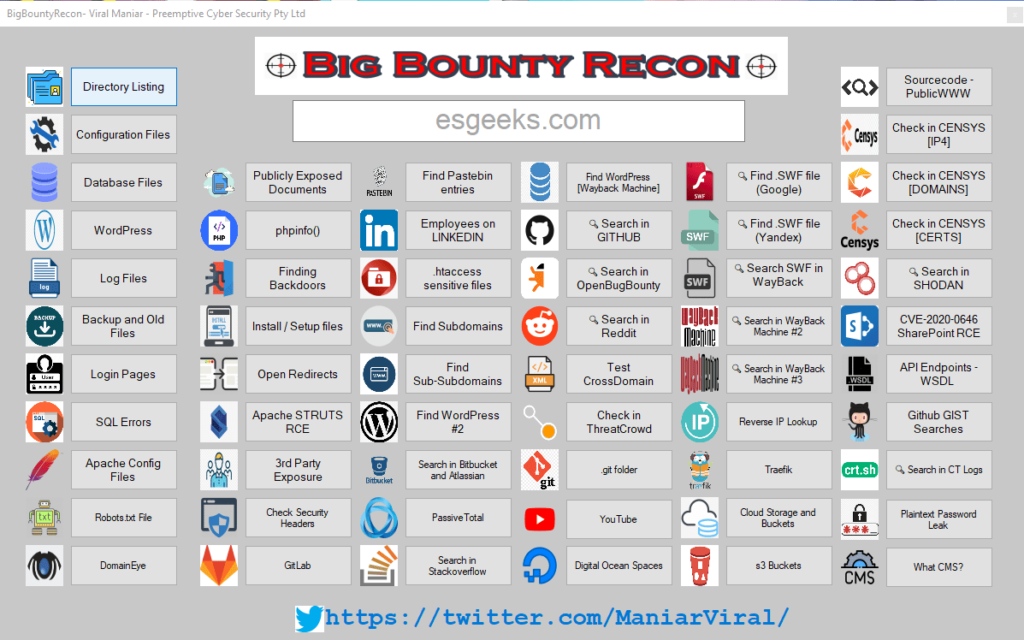 BigBountyRecon for Windows