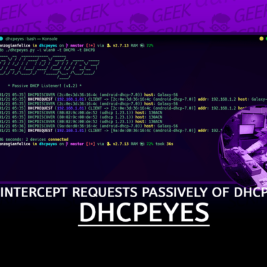 DHCPEyes Intercept requests passively DHCP
