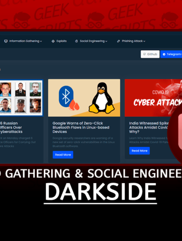 DarkSide Tool Information Gathering & Social Engineering