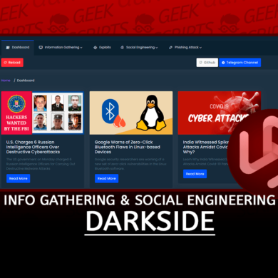 DarkSide Tool Information Gathering & Social Engineering