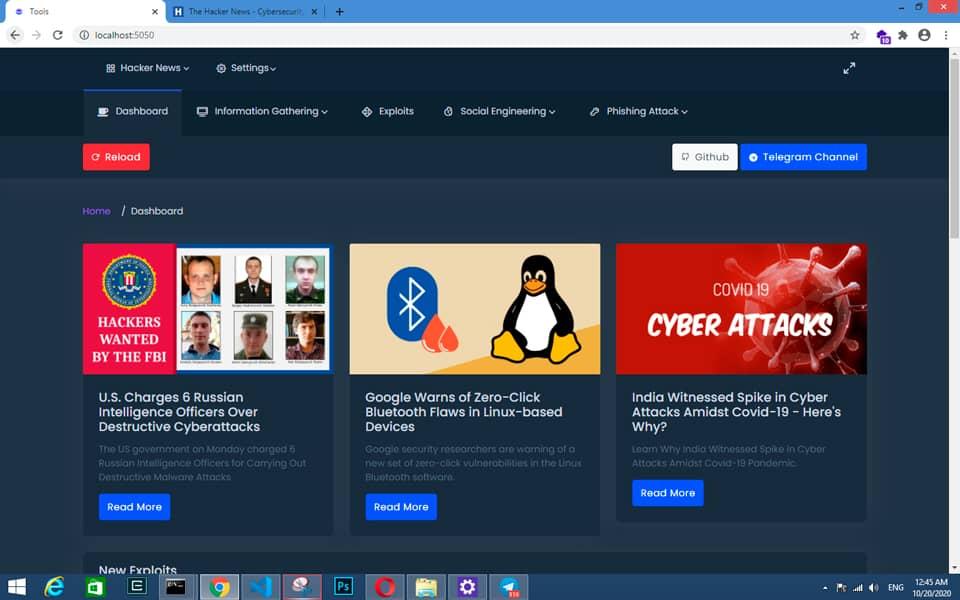 Hacker Dashboard