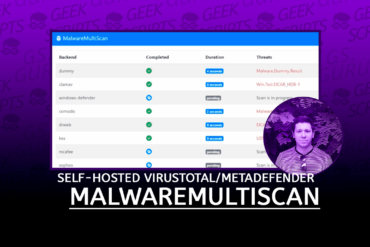 MalwareMultiScan Self-hosted VirusTotal MetaDefender