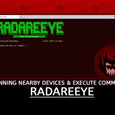 RadareEye Scanning Nearby Devices and Execute Command