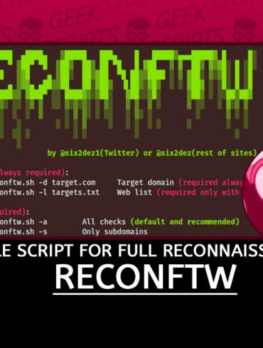 Reconftw Simple Script for full Reconnaissance