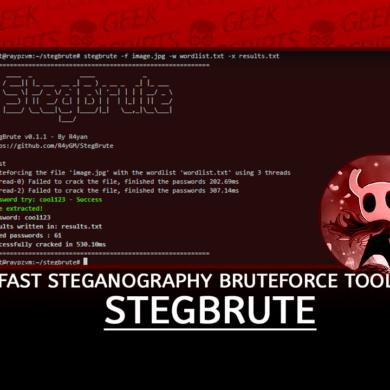 StegBrute Fast Steganography Bruteforce Tool