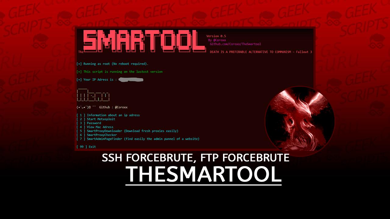 TheSmartool SSH Forcebrute, FTP Forcebrute