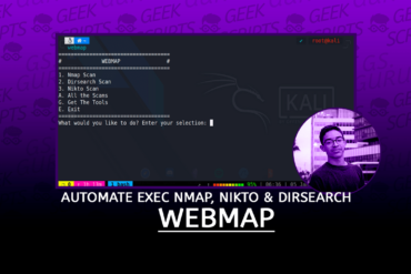WebMap Automate Execution for Nmap, Nikto & Dirsearch
