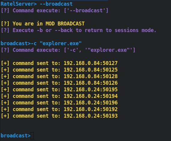 Broadcast mode