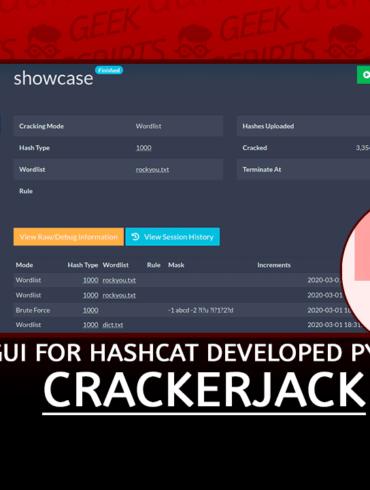 CrackerJack Web GUI for Hashcat developed in Python