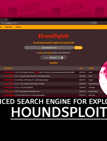 HoundSploit Advanced Graphical Search Engine for Exploit-DB