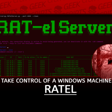 RATel RAT for Take Control of a Windows Machine